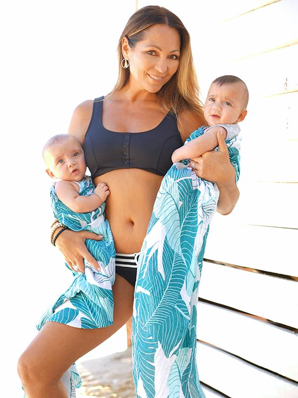 Tania with her two angels, Albe Zeke Rogers and Kenzie Louise Rogers. *(Image: Andrew K)*