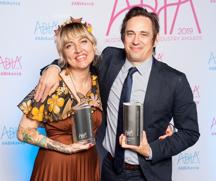 Holly Ringland, winner of the General Fiction Book of the Year, with Trent Dalton. *(Image: Supplied)*