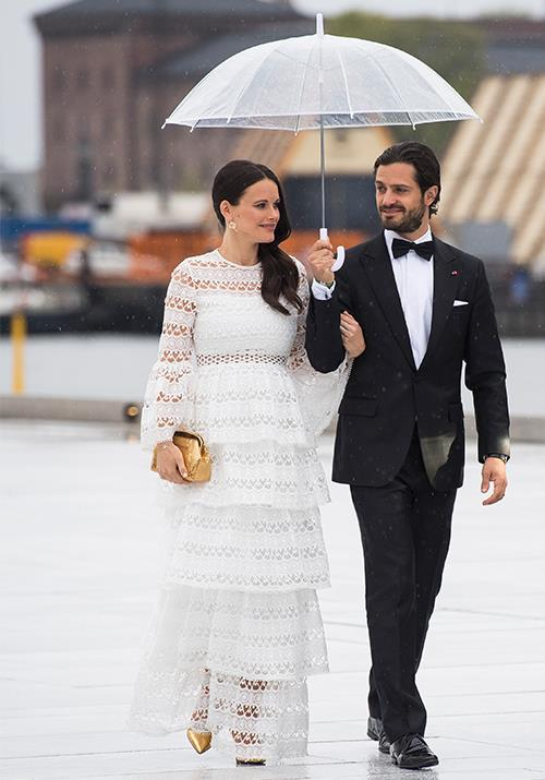 **Princess Sofia of Sweden** <br><br> If this isn't iconic, we don't know what is. The Swedish royals are known to be blessed in the gene department, but she and Prince Carl Philip take things to a new level. Here, they're pictured in 2017 attending a gala dinner at the Opera House in Oslo.