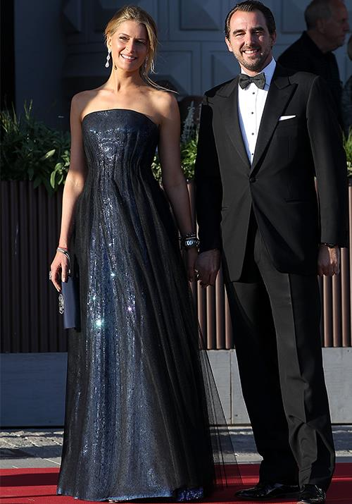 **Princess Tatiana of Greece** <br><br> The glamorous Greek royal wore this stunning dress to a private dinner in 2013 - would it be rude to ask if we could politely borrow it for our own personal enjoyment? One can dream...