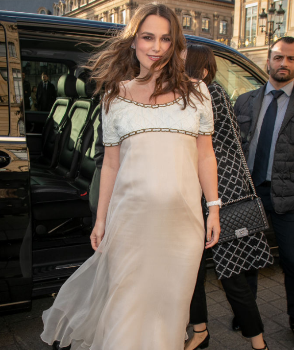 There's no denying that rounded tum. Baby number two will be joining the happy family soon. *Image: Getty.*