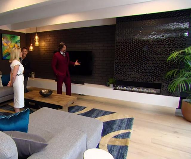 LLB was very impressed with Mikaela and Eliza's contrasting black walls. *(Image: Channel Seven)*