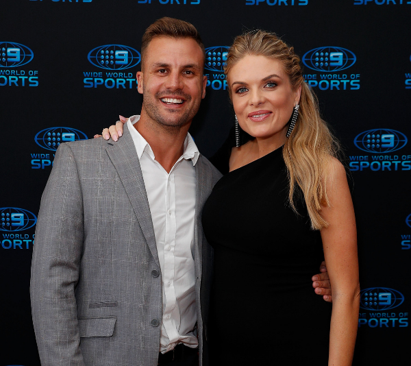 Beau Ryan and Erin Molan pose together at an event for Channel 9. *(Source: Getty Images)*