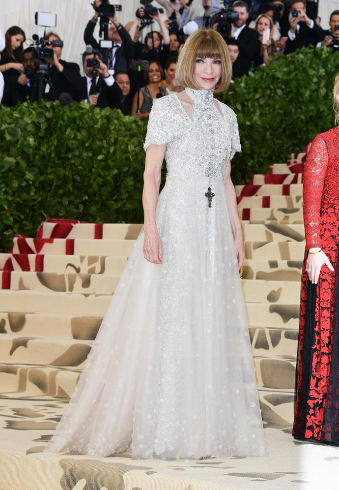 Anna, who has chaired the Met Gala since 1995 reserves the event for fashion's most elite. *(Image: Getty Images)*