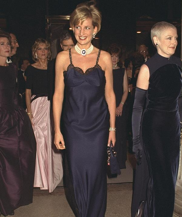 Diana's Dior gown worn to the Met Gala was a peak moment in fashion during the 1990s. *(Image: Getty Images)*