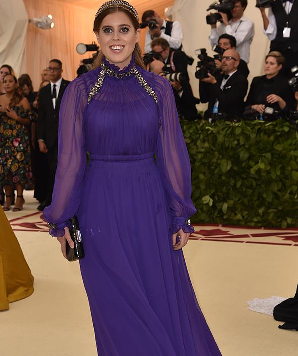 Meanwhile Princess Beatrice's stunning purple gown turned heads at last year's event. *(Image: Getty Images)*