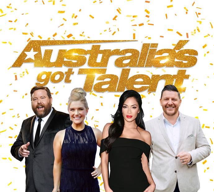 Shane, Lucy, Nicole and Manu are judging *AGT* together (Image: Channel Seven).