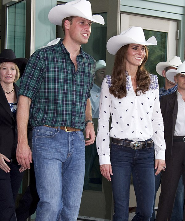 William and Kate give new meaning to Western chic. *(Image: Getty)*