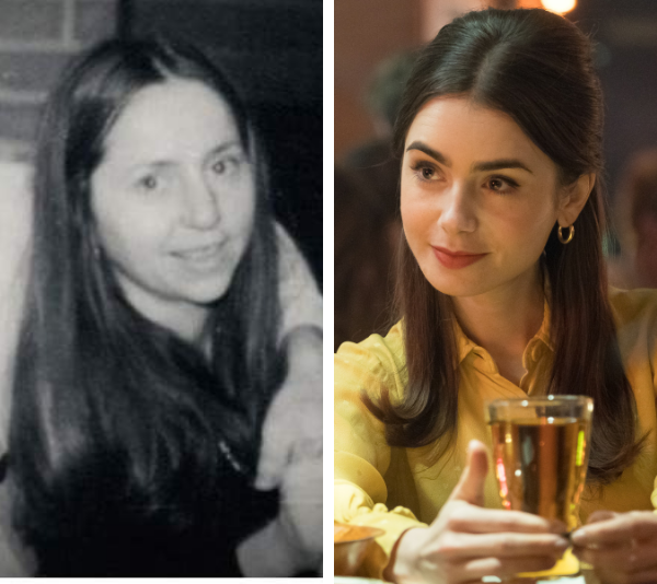 """**EIZABETH KLOEPFER and LILY COLLINS** <br><br> Elizabeth Kloepfer is probably one of the most intriguing players in the Ted Bundy show. In fact, the whole film is based from the mother-of-one's perspective - the one closest to him who had no idea that he was a killer. <br><br> Played by the acclaimed and UBER talented actress Lily Collins (*To The Bone*), Elizabeth is ultimately Ted's undoing, as she was the one who dobbed him in to police after seeing a police sketch baring his resemblance. <br><br> To get inside the mind of this woman, Lily was fortunate enough to meet Liz (who now goes by Liz Kendall). <br><br> In an interview with *This Morning* in the US, Lily said: """"It was really helpful, and she was so gracious, giving me material to look at and speaking to me and allowing me to ask questions,"""" she said.  <br><br> """"I don't know if she's going to see the movie because it's difficult, but within the filming process, she came on set and she was a positive light on-set. You wouldn't expect that with what happened. She gave us her support. She's really lovely."""""""