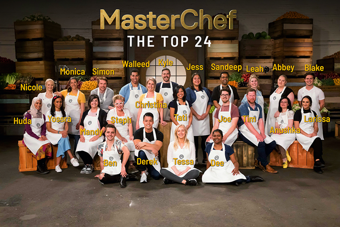 The top 24 contestants on MasterChef Australia 2019. *(Image: Channel 10)*