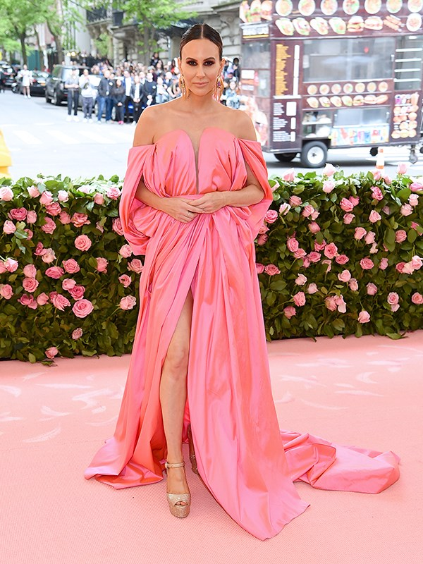 One of the first to arrive was TV presenter Keltie Knight looking pretty in pink. *(Image: Getty Images)*