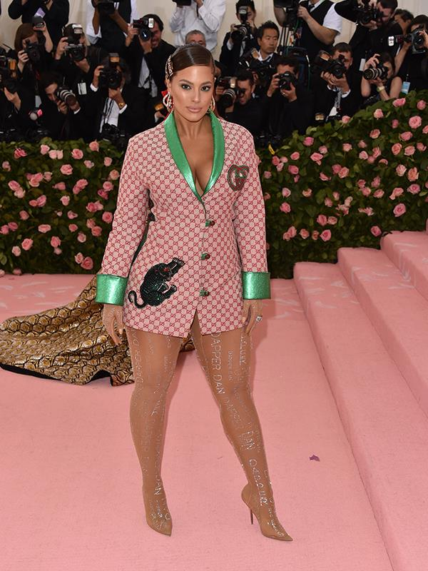 Legs for days: Ashley Graham brought her trademark va-va voom style. *(Image: Getty Images)*