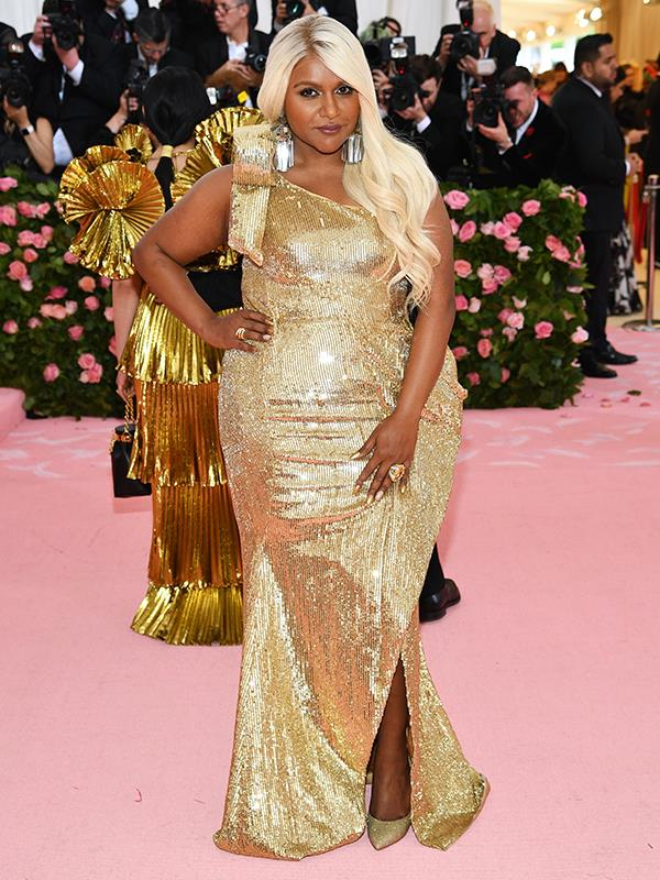 Do blondes have more fun? Guess we'll have to ask Mindy Kaling who was seen sporting a new hairdo. *(Image: Getty Images)*
