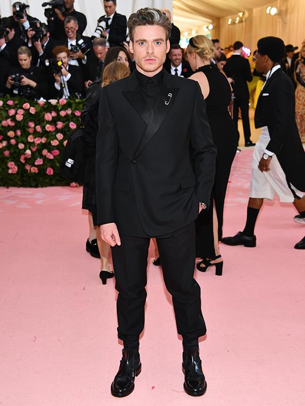 Babe. Richard Madden on the pink carpet at the 2019 Met Gala. *(Source: Getty Images)*