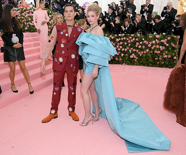Pinocchio and a 1980s Marie Antoinette (*Riverdale's* Cole Sprouse and Lily Reinhart). *(Source: Getty Images)*