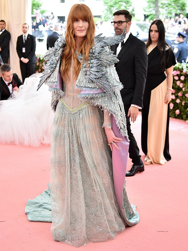 Winter is coming! Florence Welch on the pink carpet. *(Source: Getty Images)*