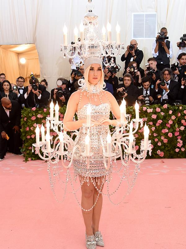 If there's one person who was bound to come dressed as a human chandelier, it's Katy Perry. *(Source: Getty Images)*