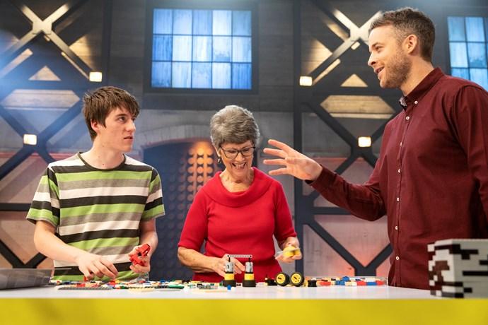 Hamish interrupts Lynn and Matt's building time (Image: Nine Network).