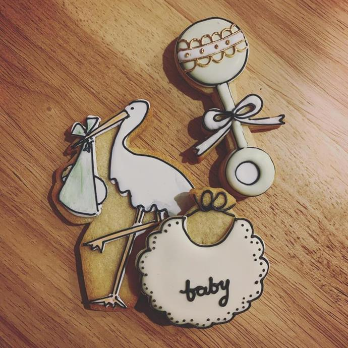 Meghan's friend Daniel shared a picture of the adorable cookies served at Meghan's baby shower - and they might have given more away than we thought at the time! *(Image: Instagram)*