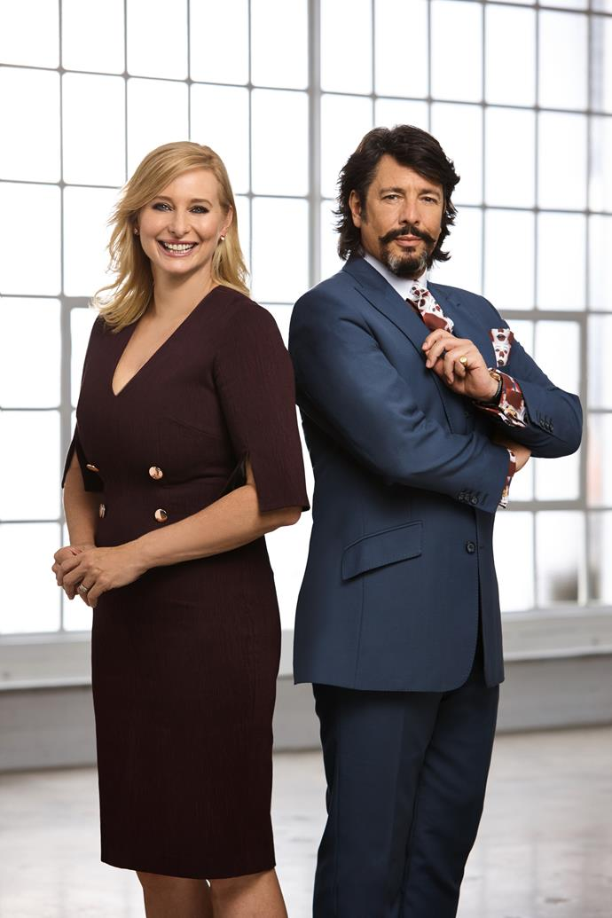 LLB and his *House Rules* co-star Johanna Griggs (Image: Channel Seven).