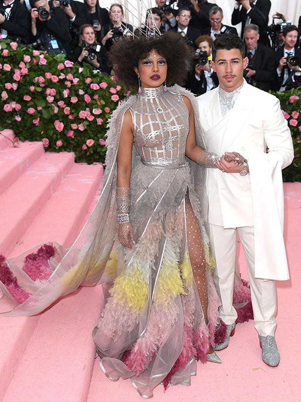 Forget dinner and a movie, date night for Nick Jonas and Priyanka Chopra is a little more glamorous. *(Source: Getty Images)*