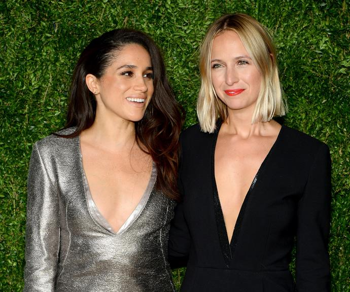 The stylish friends at the 2015 Vogue Fashion Fund Awards. *(Image: Getty)*