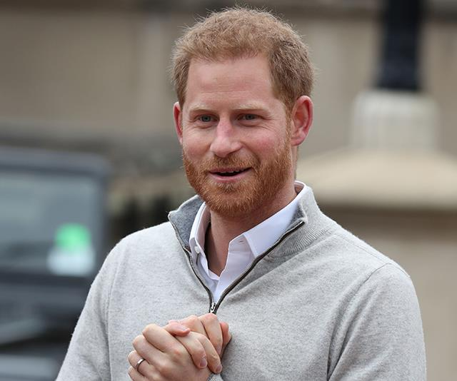 Prince Harry called an impromptu press conference to confirm the happy news. *(Image: Getty Images)*