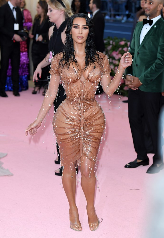 Yes, Kim did wear a corset. *(Image: Getty)*
