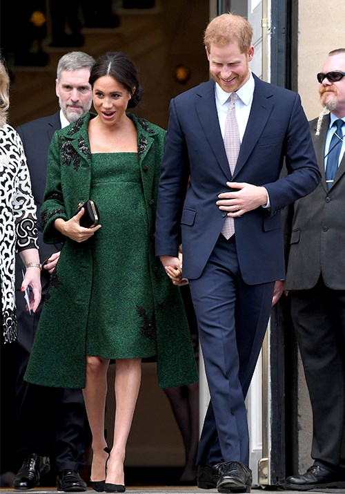 Meghan's maternity style was coveted by royal fanatics. *(Image: Getty)*
