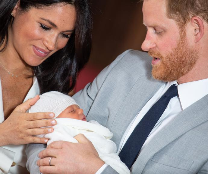 The couple are clearly besotted with their new addition! *(Image: Getty)*