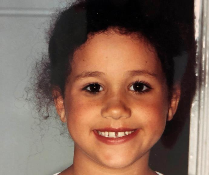 Meghan as an adorable primary schooler. *(Image: Supplied)*
