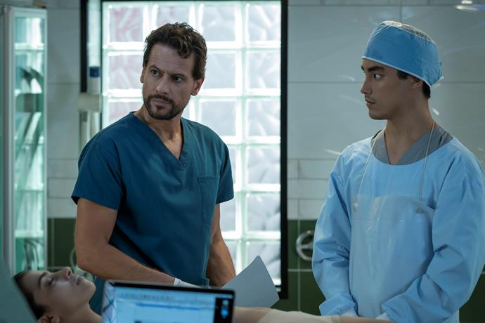Simon looks out for Harrow as he adjusts to his return (Image: ABC).