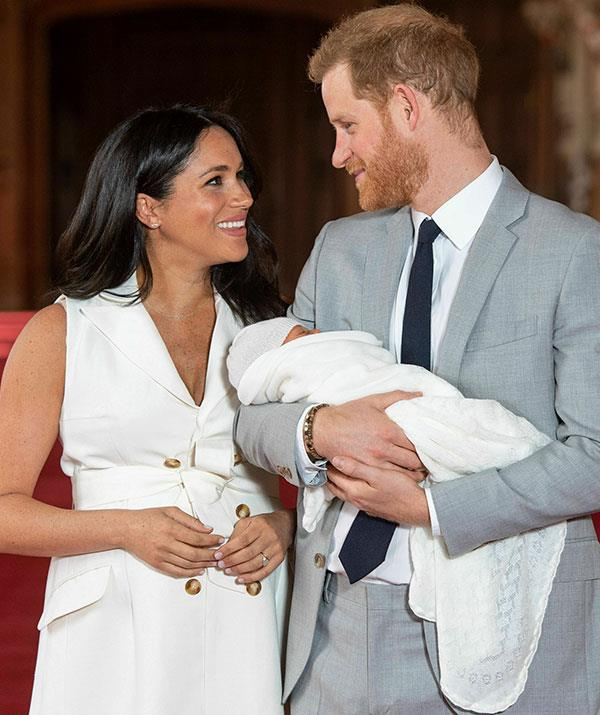 Proud parents Meghan and Harry introduce baby Archie. *(Image: Dominic Lipinski / PA / AAP)*