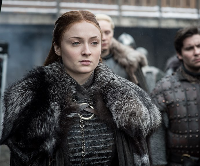 **Sansa Stark, Older and Wiser**  Growing up in Winterfell, teen Sansa (Sophie Turner) practiced fine arts, not politics. But her education takes a sharp turn when she witnesses her dad being executed, is betrothed and beaten by Joffrey, gets forced to marry Tyrion, and then ends up in a worse union with Ramsay, who rapes and tortures her. She survives to become the steely Lady of Winterfell. No longer on the sidelines, she's a woman even Arya can look up to.