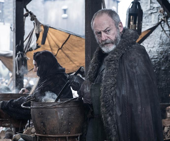 **Davos Seaworth, The Beloved Battler**  He tried to warn his buddy Stannis Baratheon that perhaps he was taking the Lord Of Light thing too far, but Davos (Liam Cunningham) remained loyal and, unlike his king, stayed alive. On his journey, the reformed smuggler became a landed knight, learned to read (thank you, Shireen!), had Melisandre resurrect Jon Snow, and helped fend off the White Walkers at the Battle of Winterfell, joining fellow wise advisor Lord Varys in victory