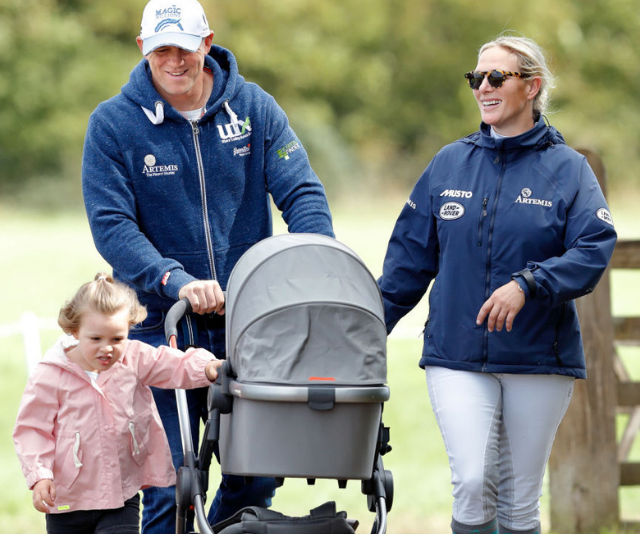 Zara and Mike Tindall's daughter Lina is the heavyweight champion of royal baby weights! *Image: Getty.*