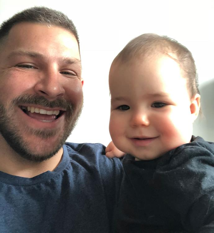 Tim loves being a dad to little Isabella (Image: supplied)