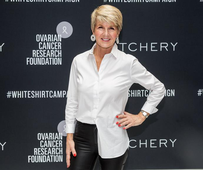 On May 8, the ambassador for Witchery's White Shirt Campaign attended a media event to support the initiative, which raises funds and awareness for ovarian cancer. *(Image: Getty)*