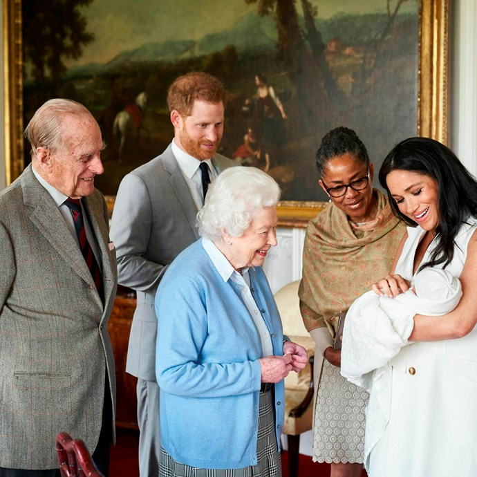 This incredible image of the royal family marks an historic moment. *(Image: Chris Allerton/ AP/ SussexRoyal)*