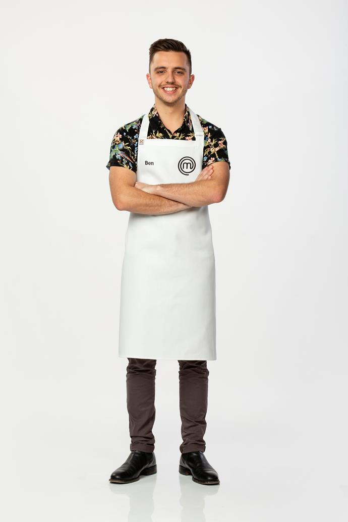 **Ben Trobbiani, 24, Pharmacist, SA**  <br><br> Ben is confident in balancing and pinpointing flavours, describing his style of cuisine as modern Australian. Ben loves native ingredients, and is in awe of the foraging movement and enjoys exploring modern techniques.
