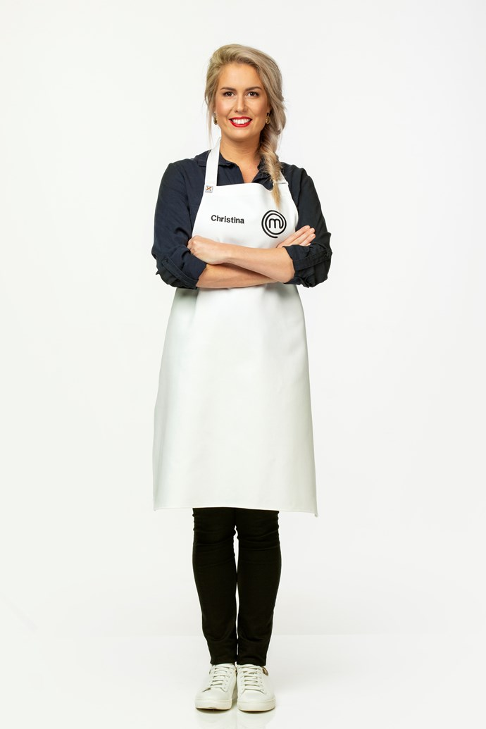 **Christina Laker, 29, Naturopathy Student, QLD** <br><br> Christina considers Maggie Beer to be her cooking inspiration, favouring working with seasonal produce and earthy flavours. She loves to serve up bold, bright and colourful dishes with fresh and zesty herbs.