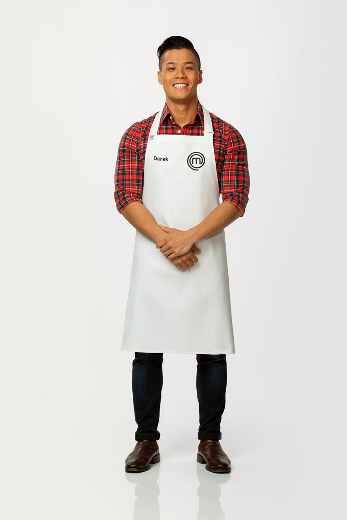 **Derek Lau, 26, Financial Analyst, WA** <br><br> Derek has a sweet tooth, but found himself impressing the judges during the auditions with his pork and prawn potstickers. He's hoping that his ability to follow instructions under pressure could be his strength this season.