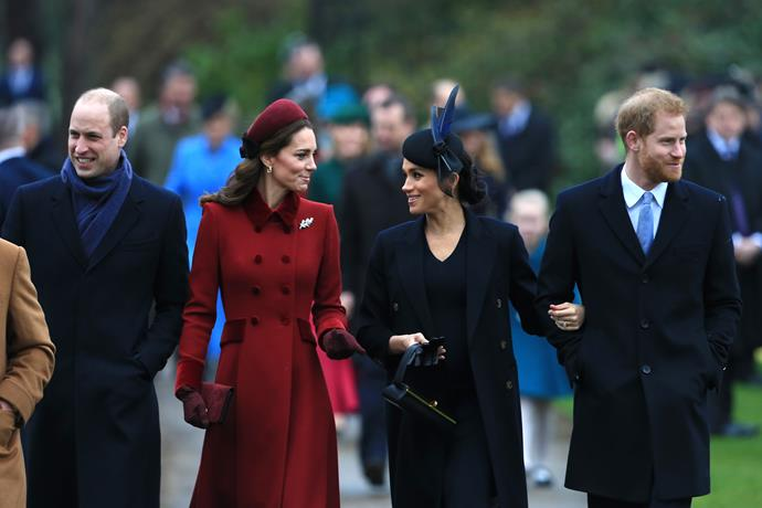 The two couples put on a united front last Christmas. *(Image: Getty)*