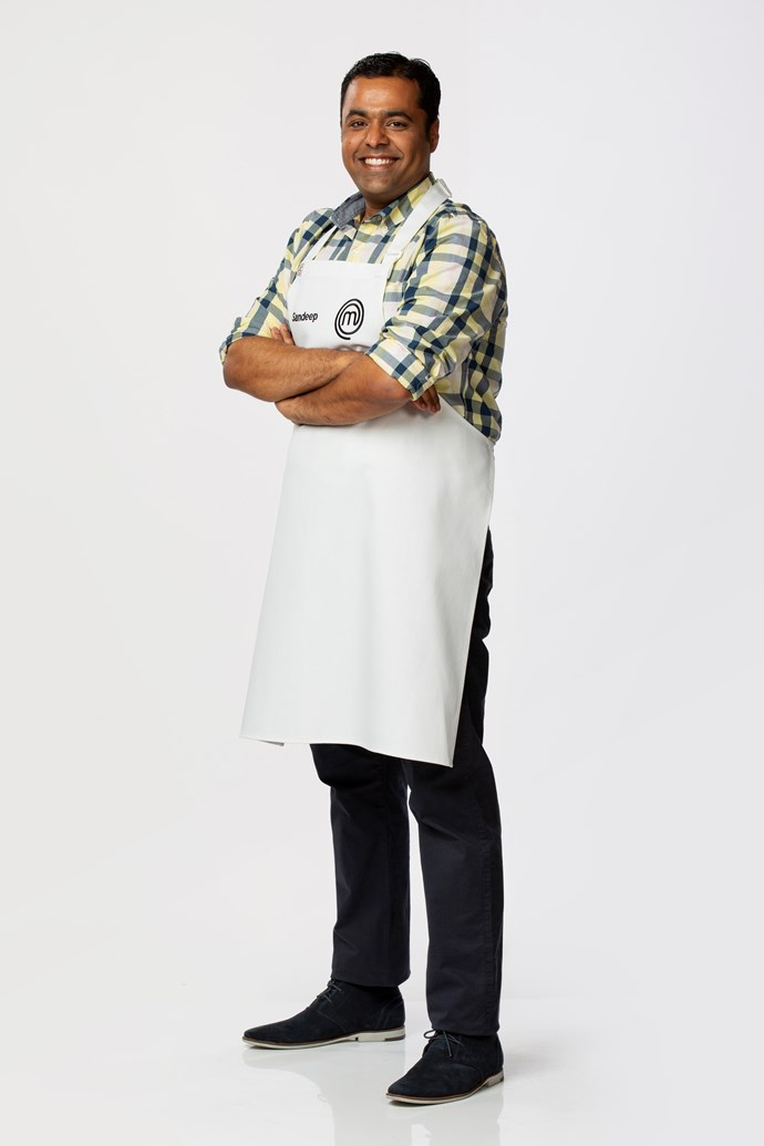 **Sandeep Pandit, 37, IT Project Manager, VIC** <br><br> Born in Kashmir, but later migrating to Bangalore where his passion for cooking grew, Sandeep is most confident cooking with spices. His family didn't have a fridge so his Mum taught him how to cook dahl without having it stick to the hotplate and how to boil food to prevent it spoiling. He brings his wealth of knowledge, and flavourful dishes, to the competition.