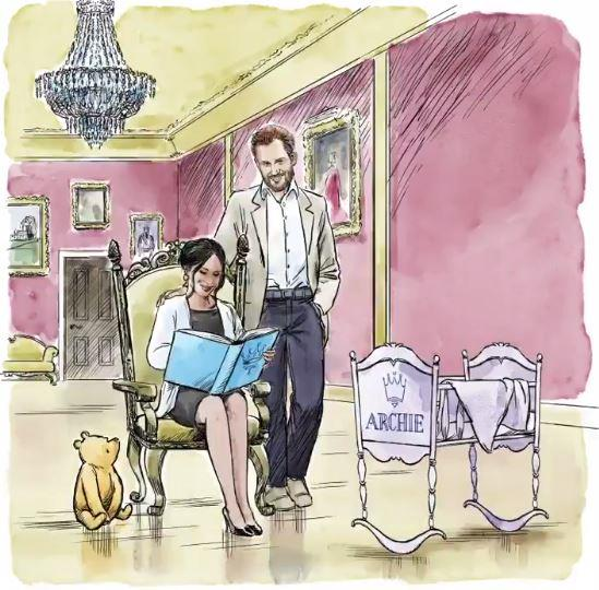 Too cute! Prince Harry and Duchess Meghan were gifted an adorable animation by Disney as they welcome their new son. *(Image: Disney)*