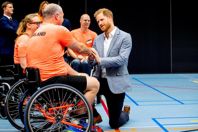 Prince Harry shared some emotional moments with guests at the event. *(Image: Getty)*