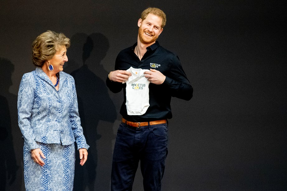 Prince Harry was clearly thrilled with the new gift! *(Image: Getty)*