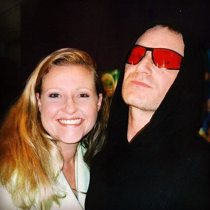 Angela with Bono from U2 (Image: *Instagram/@angelabishop10*)