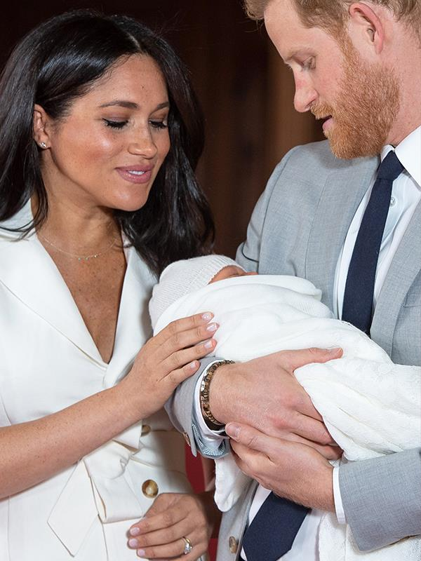 That was unexpected! Archie is reportedly named after a very special pet belonging to Meghan. *(Image: Dominic Lipinski / PA / AAP)*