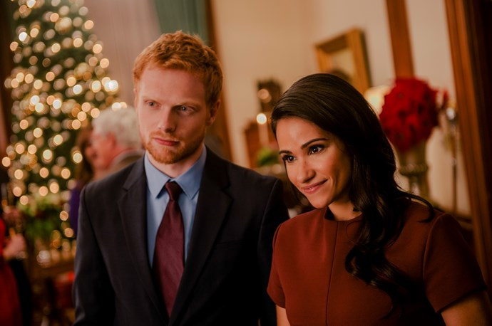 Charlie Field and Tiffany Smith as Prince Harry and Meghan Markle (Image: Channel Seven).
